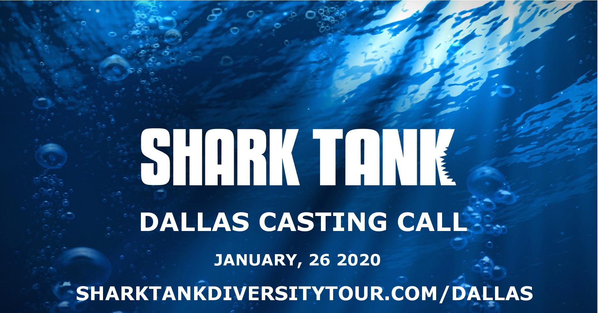 Grow DeSoto Market Place to HOST SHARK TANK CASTING CALL for DIVERSE ENTREPRENEURS